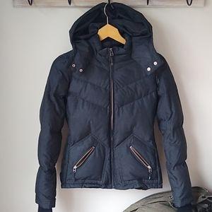 J Crew Down Puffer Jacket Black Small